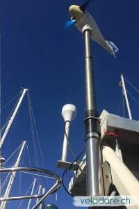 Isolation entre le joint et le tuyau portant notre éolienne