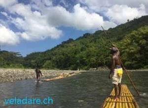 River Rafting auf dem FLuss Rio Grande, Jamaika