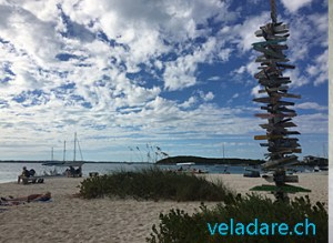 Strand vor Chat and Chill, Stocking Island, Bahamas