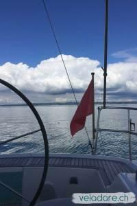 En voilier sur le lac de Constance