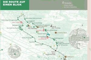 Karte Weinwanderweg Weinfelden