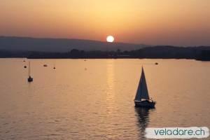coucher de soleil sur le Lac de Zug