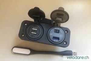 Nouvelles lampes de chevet à prises USB