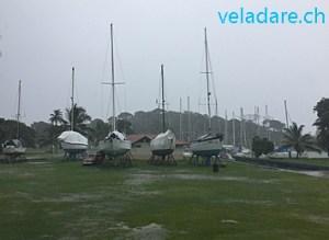 Turtle Cay Marina sous la pluie