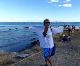 Party on the beach in Bahia Santa Maria