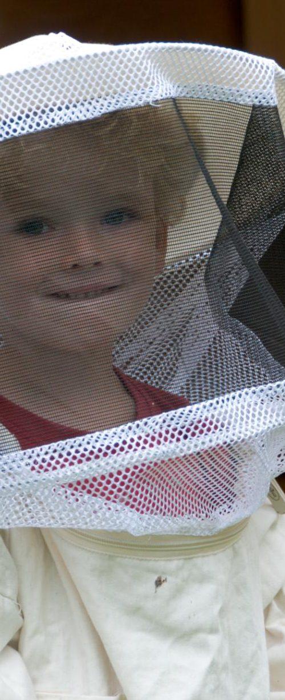 Kimani hilft beim Honig ernten