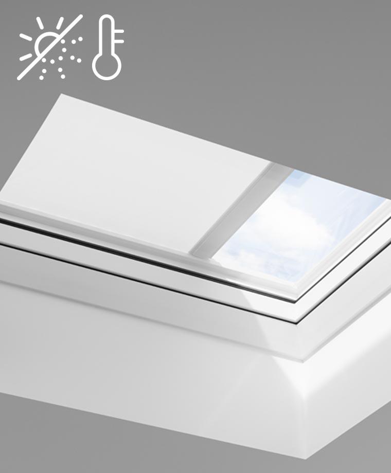 store pare soleil velux pour toit plat