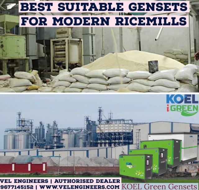 KOEL Green Generators for Rice mills in Chennai