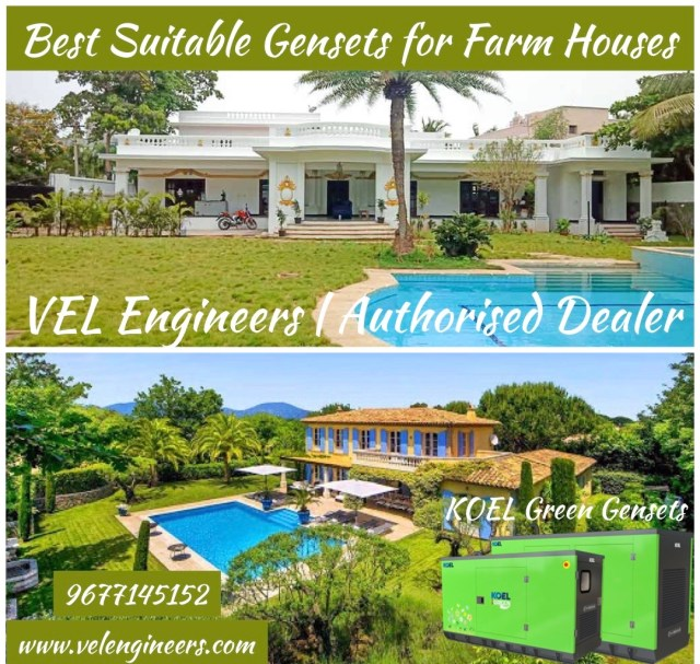 Generators for Farm House in Chennai