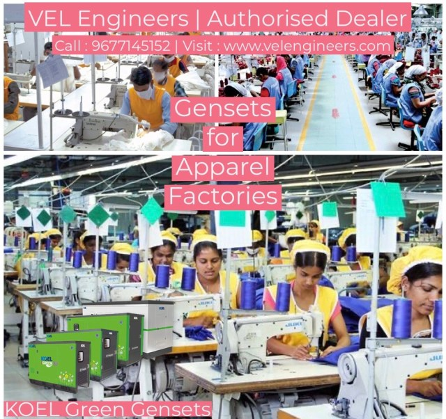 Generators for Garments Industries