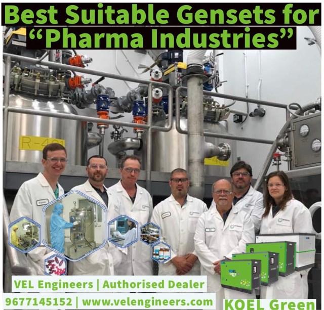 Generators for Pharma Industries in Chennai