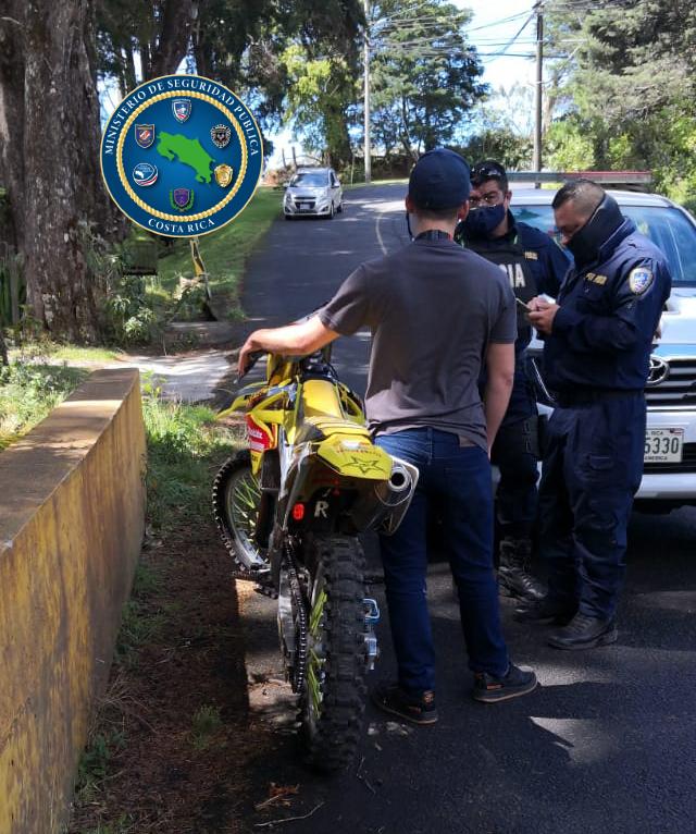 detenido en San Rafael de Heredia