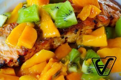Velesco Salmon with Mango Relish