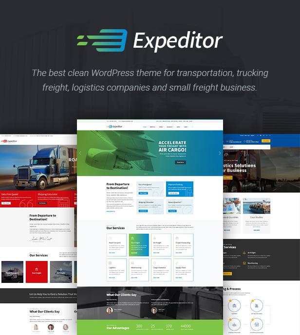 Expeditor - Logistics & Transportation WordPress Theme - 2