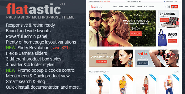 Flatastic Responsive Multipurpose Prestashop Theme