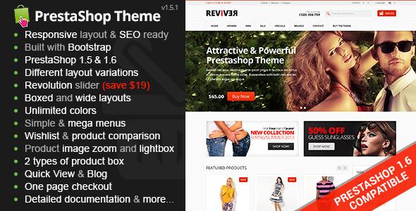 Reviver - Responsive Multipurpose PrestaShop Theme