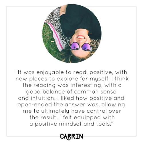 Carrin's experience with Vella's mini tarot reading