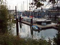 hidden marina in the middle of industry
