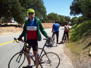 Gary at our rest point before descending into Paso Robles