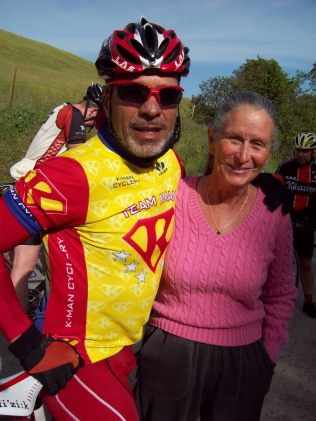 Len with Gail at a rest stop