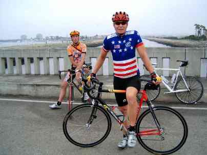 Patrick & Chuck on the Ballona Creek bridge