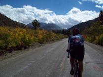 Heading up Rock Creek Road