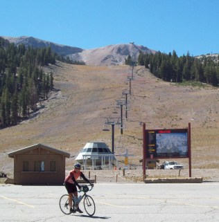 One of the many lifts at Mammoth Mountain.