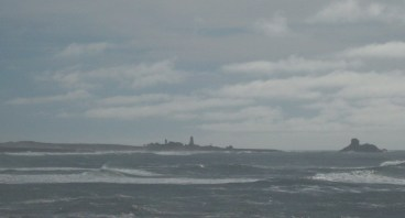 Piedras Blancas Light Station and offshore rocks.