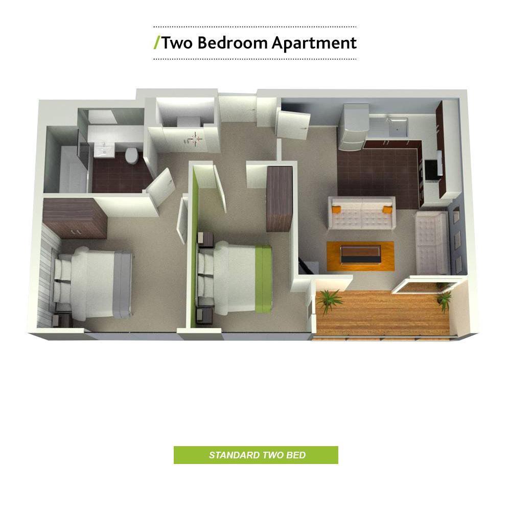 2 Bedroom House Rent
