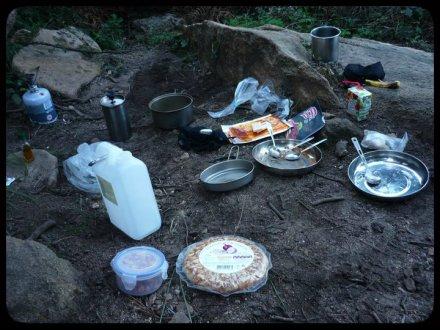 Cozinha ao ar livre e com vista.