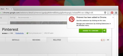 pinterest google chrome