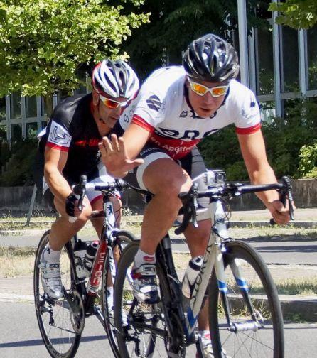 Im Einsatz beim Radkriterium Teltow