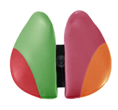 Salli Two-Part Ergonomic Dental Saddle Seat - Multicoloured Seat