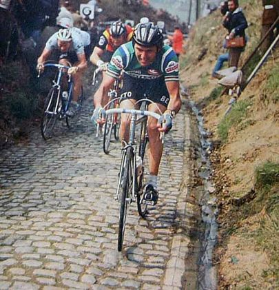 Roger de Vlaeminck at Tour of Flanders (Koppenberg)