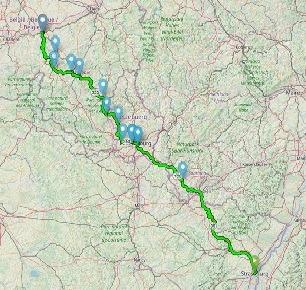 Affiner un itinéraire rando - Itinéraire avec profil