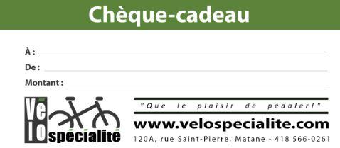 cheque cadeau Vélo Spécialité