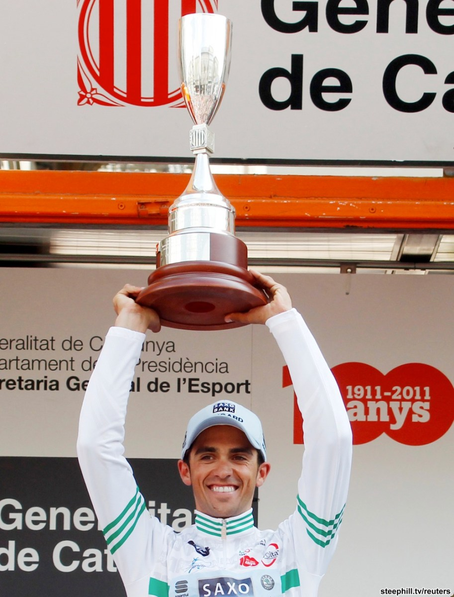 Alberto Contador won queen stage and cemented overall (image courtesy of race website)