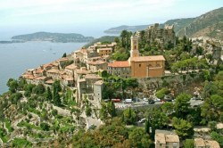 View of Eze village and coastline from Col d'Eze (image courtesy of Eze Tourist Office)