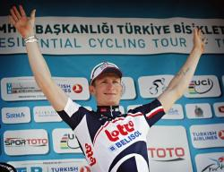 Andre Greipel takes stage two in Turkey (image courtesy of Lotto Belisol)