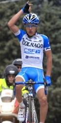 Stage winner Domenico Pozzivivo (image courtesy of Colnago CSF-Inox)