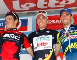 Tour of Belgium 2011 Podium (image courtesy of official race site)