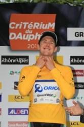 Luke Durbridge of Orica-Greenedge wins prologue (image courtesy of official race website)