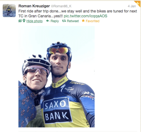 Kreuziger first ride