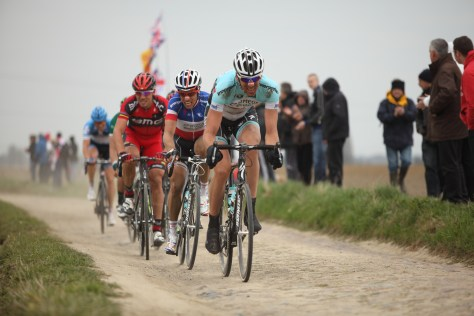 Giving chase at Paris-Roubaix 2012