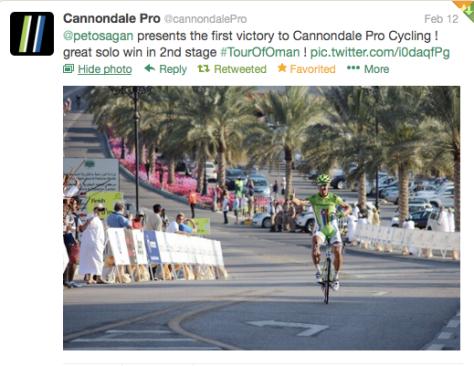 Oman Peter Sagan salute