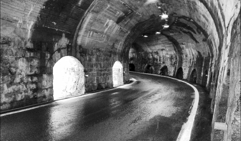 Tunnel on the Stelvio