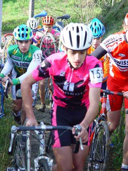 Beñat in 2002 competing in Ziklokoss Itsasondo