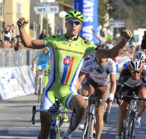 Sagan victorious again! (image courtesy of Cannondale)