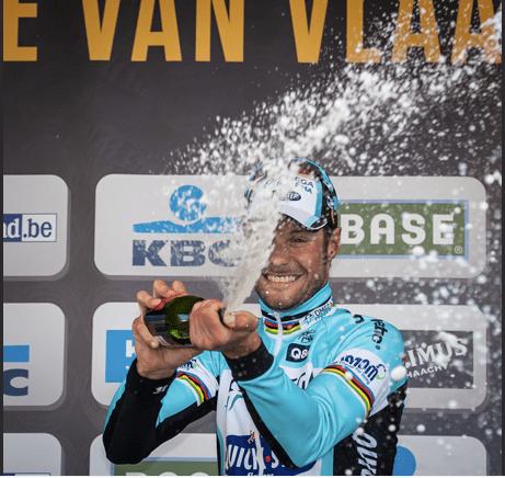 Boonen celebrates his 2012 Tour of Flanders victory (Image: Flanders Classics)