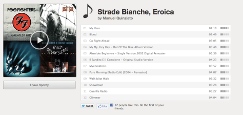 Strade Quinziato playlist B